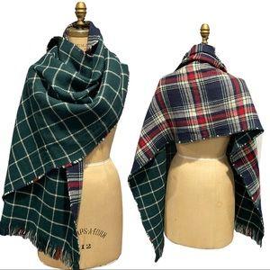 Plaid Lg Oversized Blanket Scarf Scottish Tartan